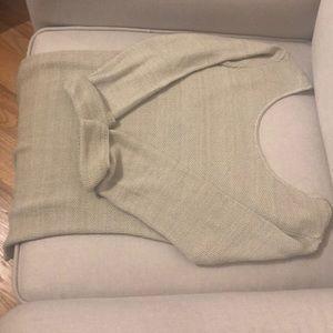 Scoop back sweater